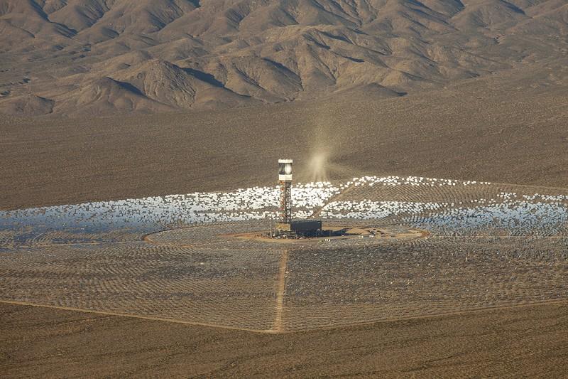 solární elektrárna typu solární věž