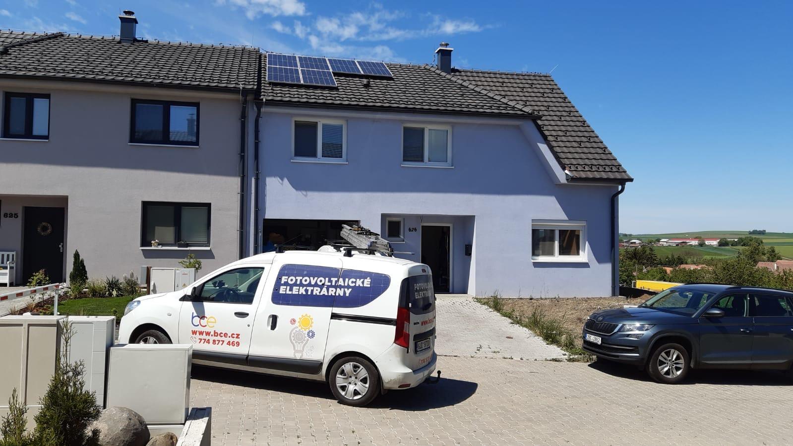 Montáž fotovoltaické elektrárny 4,38 KWp, akumulace energie do baterií