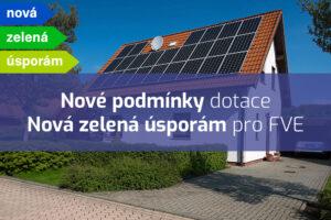 Nové podmínky dotace Nová zelená úsporám na fotovoltaiku vám mohou přinést příspěvek až 205000 korun
